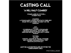 Two Female Actors Needed for Student Short Film
