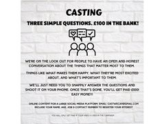 People in England and Wales Wanted for an Ad
