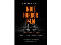 Two Female Actors and One Male Actor Required For Horror Feature Film