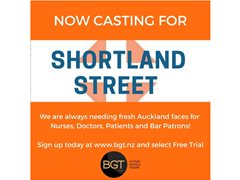 Want to be on Shortland Street?