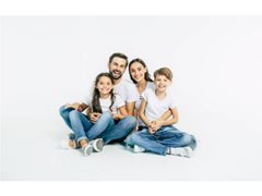 Family of 4 for Driving Scene with Community Message in Brisbane $1125