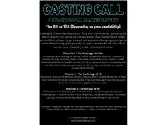 Three Actors Required for Main Roles in Student Online Video