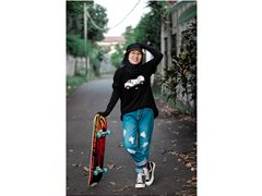 Female Skateboarder for Climate Change Campaign