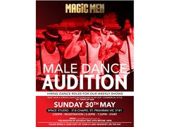 Male Hip Hop/Commercial Dancers Required for Weekly Stage Shows