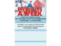 Looking for Singletons for the Channel 4 Series 'Five Dates A Week'