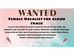 Female Vocalist wanted for Collaboration On Album Track