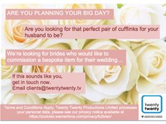 Bride, Groom or Father of Bride Wanted for Returning BBC Series