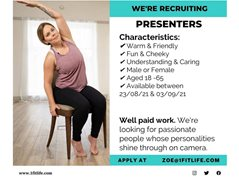 Group Exercise Instructors Needed for Workout on Demand Videos