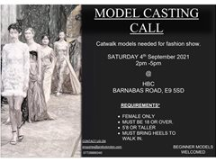 Female Models Required for Catwalk Show