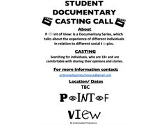Student Documentary Series Casting Call