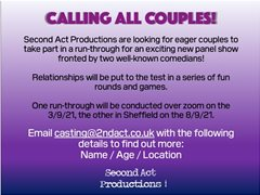 Couples Needed For New Comedy Panel Show Run-Through