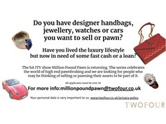 Million Pound Pawn - Want to Sell or Pawn Your Luxury Asset?