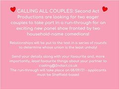 Couples Wanted for New Panel Show Run-Through