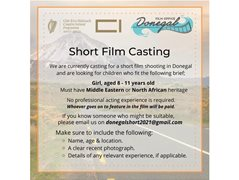Seeking Female Actor 7-11y/o for Short Film - Paid (No Experience Needed)