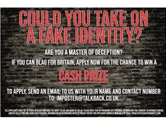 Imposters Wanted for New TV Gameshow With Cash Prize