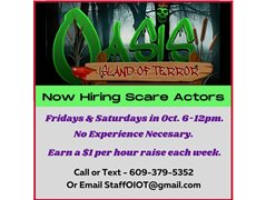 Actors Needed for Scaring at a Haunted Attraction