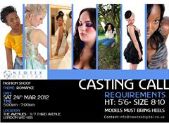 Casting call - fashion test shoot - London