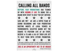 Bands Wanted for gig's - Will get a free DVD and CD of the set -Bournemouth