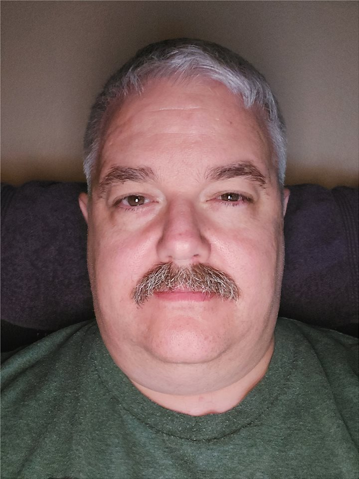 Dad with a mustache