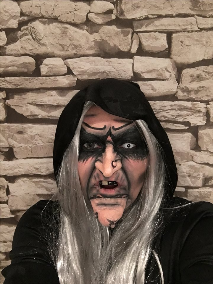 Louise Campbell Witch Old Hag Makeup
