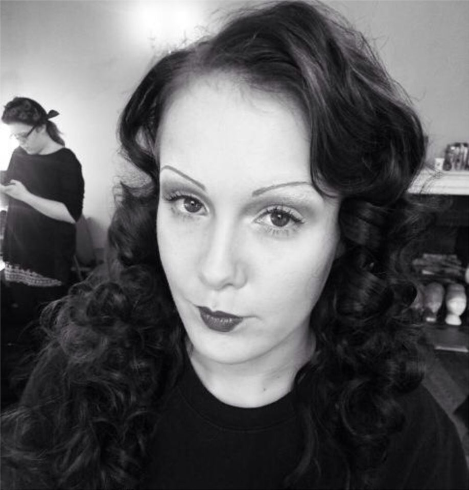 Holly Fox 1930s Barrel Curl Blocking Out Eyebrows And Makeup