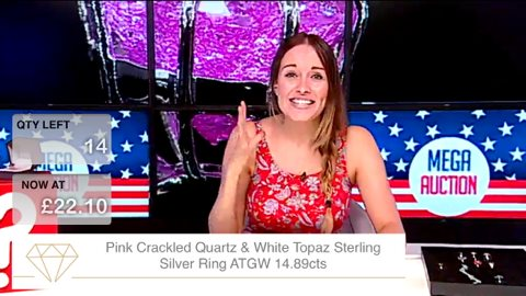 Ruth Lane - Presenting live on Jewellery shopping channel Rocks TV