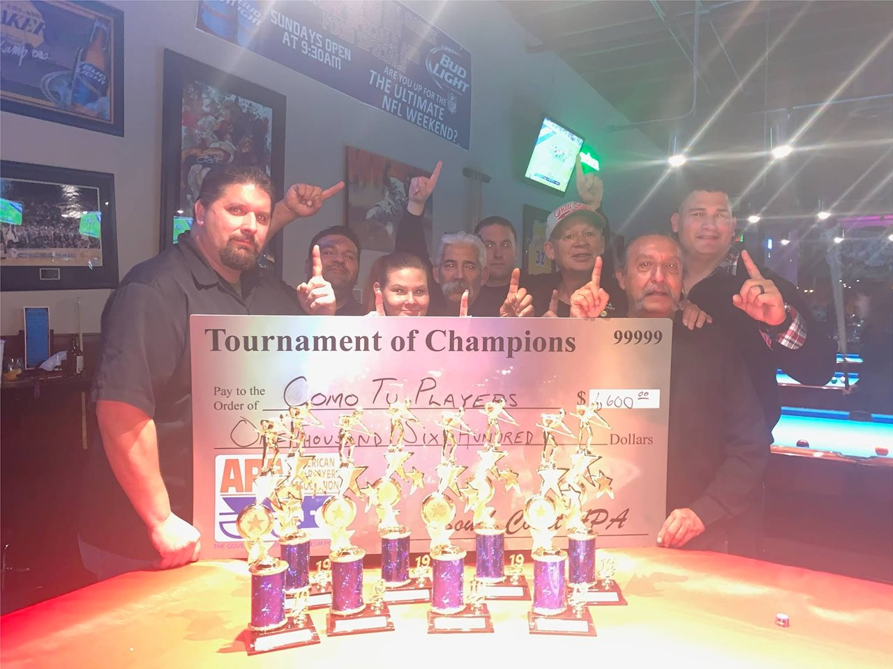 With my 9ball teammates. We practice pool even though places are closed. Photo in January 2020 when