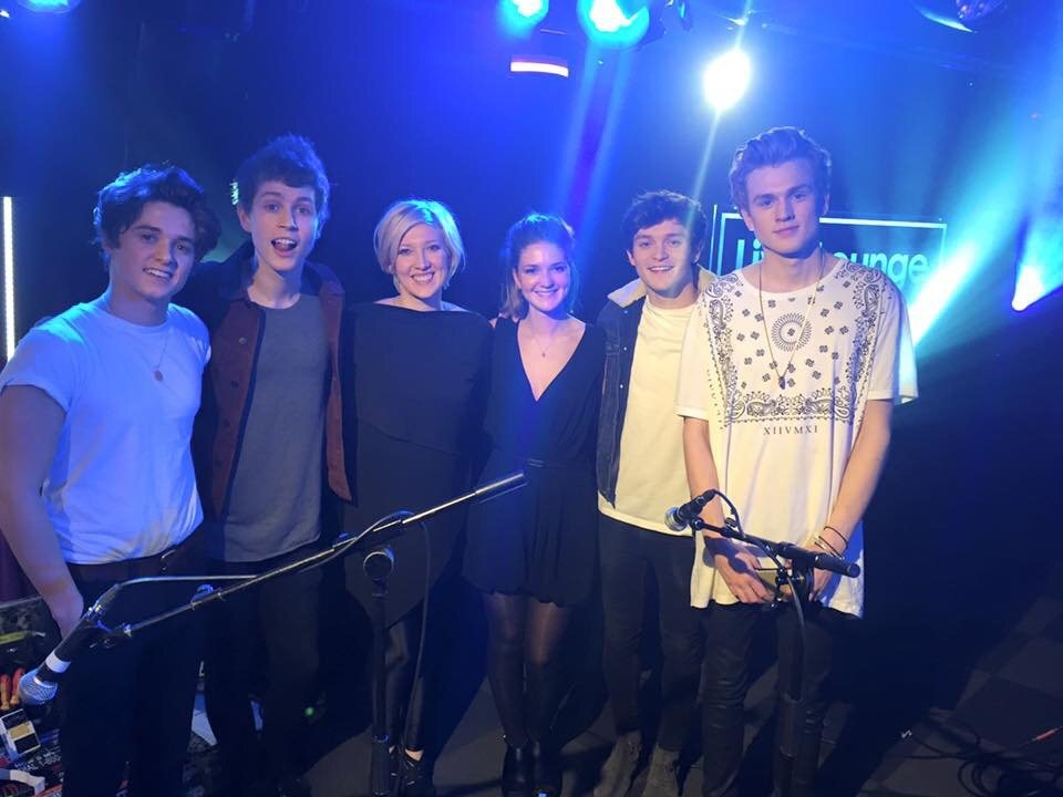 Lydia Clowes - Singing Backing Vocals for The Vamps in Radio