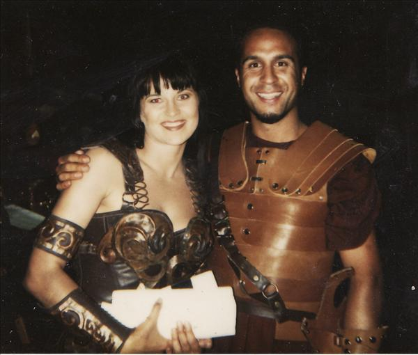 Riqi Harawira - Acting role with Lucy Lawless (Xena warrior