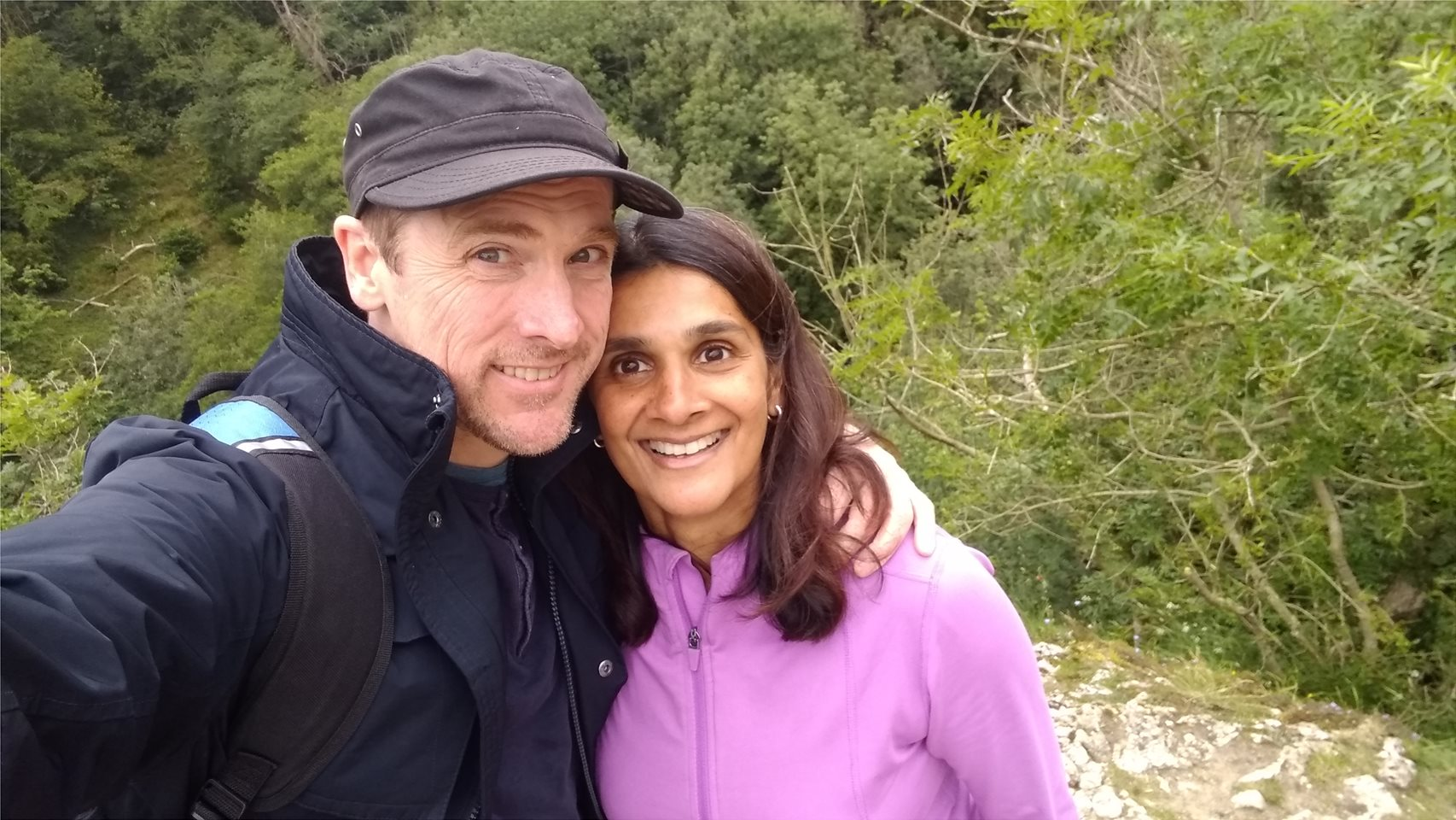 Hubby and me , on Lovers leap! Dovedale