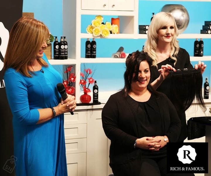 Joanne C Rich Caine Hair Extensions Live On Tv With Debbie
