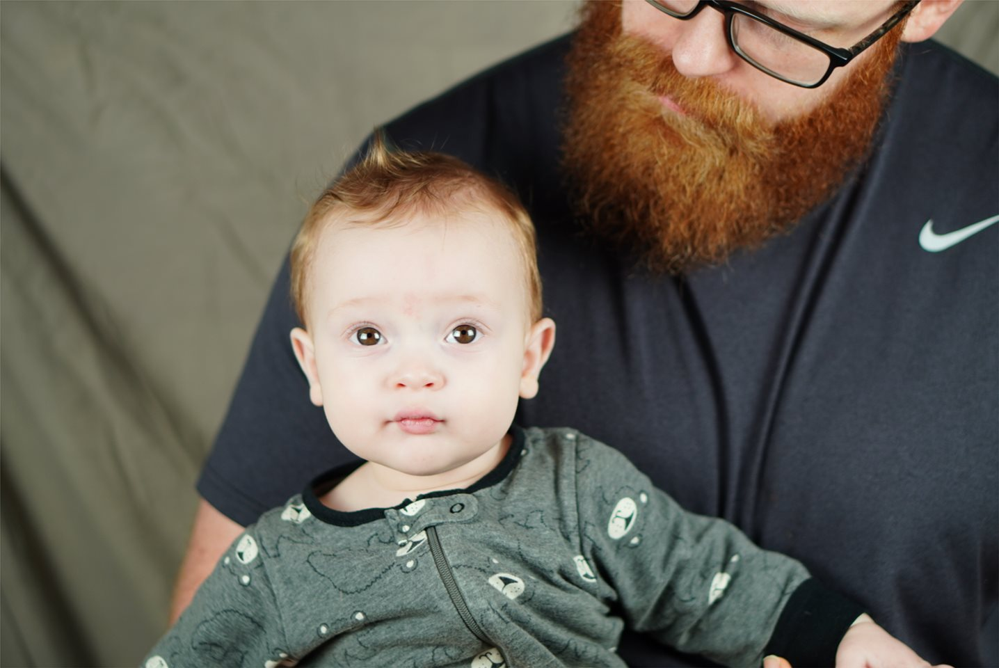Dad Dwaine and baby Porter