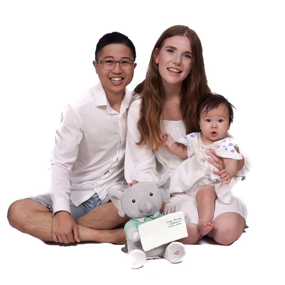 Ian (Chinese Singaporean), Amara (mixed), and myself (Caucasian Australian)