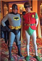 As 'Batman' with Ned Napier as 'Robin' at The Astor Theatre 2014