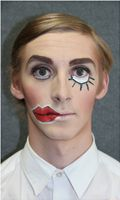 "Theatre makeup for the character Jack out of the theatre show ""Crave - A Takeaway Show"""