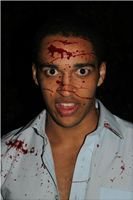 Blood Spatter & Silicone Head Wound