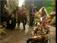 BBC Extras, as TV Cameraman With Daniel Radcliffe, Warwick Davies, and Ricky, Gervais