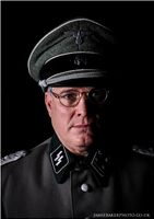 WW2, German, SS Officer, TV, Reconstruction, Documentary, Movie, Drama, Film, SS, own uniform,