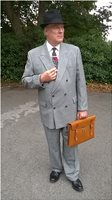1940s Suit, Prince of Wales Check, WW2,