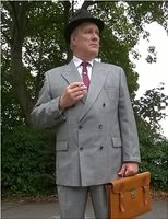 Prince of Wales Check, 1940s Suit, Chris Wilson, Christopher Wilson, War Time,