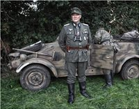 German Officer (Hauptmann) For Fallen Eagle Feature Film My own Uniform, with Kubelwagen