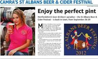 beer fest girl 2012 for St Albans.