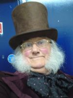 Pete dressed as Mr Pickwick for 'Odd One In'