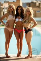 Miss European & European princesses by the pool. Photo by Brian Hayes