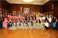 Miss European Delegates with their managers & The Lord Mayor at the Mansion House 9th October 2014