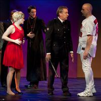 Baseball player in Sweet Charity, October 2010