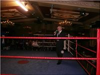 Master of Ceremony at a recent Boxing event