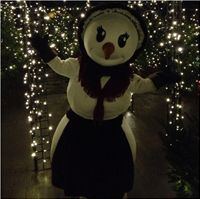 Snowlady at Alton Towers Christmas Extravaganza 2012.