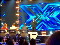X FACTOR 2015 with Guy Sebastian, James Blunt, Danni Minogue and Chris Isaak.