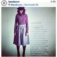 "Lauren Haynes ""Handsom Clothing Frankie Magazine 2013"""